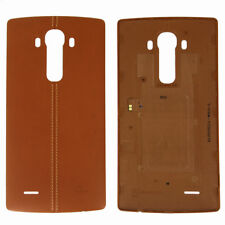 Brown Leather Effect Original Battery Back Cover For LG G4 H815 NFC