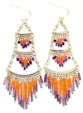 Vintage retro style seed pearl tassel chandelier earrings
