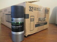 case of 32 Axe Proximity BERGAMOT Deodorant Body Spray 1 oz travel size