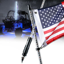 Xprite 5ft White LED Whip Lights Flag Pole Antenna for Polaris RZR Yamaha Can-Am