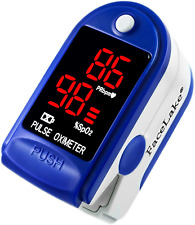 Facelake ® FL400 Pulse Oximeter with Carrying Case, Batteries, Neck/Wrist Cord -