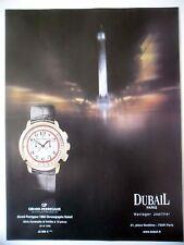 PUBLICITE-ADVERTISING :  GIRARD-PERREGAUX 1966 Chronographe Dubail  2014 Montres