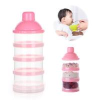 Travel Kids Baby Feeding 4 Layers Milk Powder Dispenser Bottle Storage Container