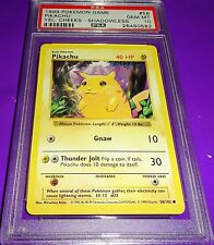 Pokemon Pikachu Yellow Cheeks Shadowless Psa 10