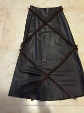 GIULIANA TESO Leather Skirt with Mink