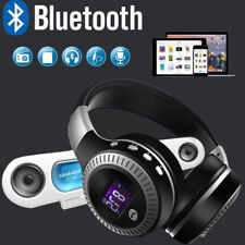 LED Over Ear Wireless Bluetooth Kopfhörer Kabellos Sport Stereo AUX-inTF Headset