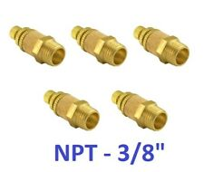 """Pneumatic Flow Control Silencer NPT 3/8"""" Air Exhaust Muffler Fitting 5 Pieces"""