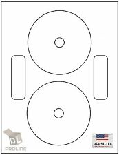 DVDNTF, 200 CD/DVD Labels Neato Compatible Full Face / 100 Sheets