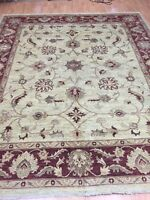 "8'4"" x 9'9"" New Pakistani Peshawar Oriental Rug - Hand Made - Veg Dye 100% Wool"