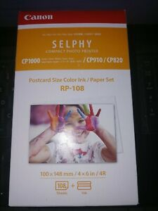 Canon RP-108 4x6 Paper/Ink, 108 Sheets for SELPHY CP1200 CP1300 CP910 CP820