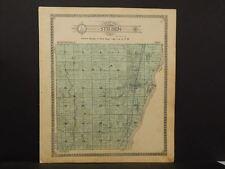 Illinois Marshall County Map Steuben Township 1911 J12#61