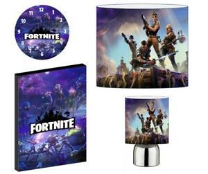 FORTNITE e - Light Shade ,Touch Lamp, Wall Art, Wall Clock or Bundle