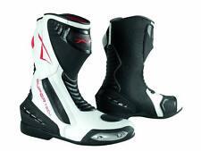 Paddock Motorcycle Motobike Sport Boots Racing Track Performance Evo White 42