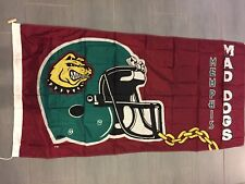 Vintage 1995 CFL Memphis Mad Dogs Large Flag 3' x 6'
