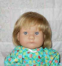 Monique KIMBERLY Human Hair Doll Wig SZ 12/13 *BLONDE* Page Style Full Cap~ DISC