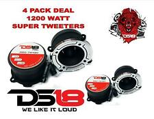 "DS18 PRO-TW120 1"" Super Tweeter High Compression Silver Bullet 1200W 2 PAIR"