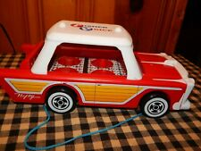 Basic Fun Fisher Price Classic Nifty Station Wagon Pull Along Toy GUC