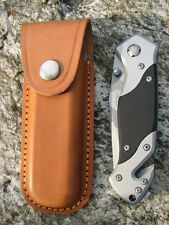 Herbertz Rettungsmesser Taschenmesser Einhandmesser Messer Etui Lederetui 226912