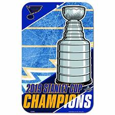 "NHL St. Louis Blues 2019 Stanley Cup Champions 10 3/4"" by 16 1/2"" Wall Sign"