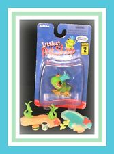 ❤️NEW Littlest Pet Shop LPS #50 Singles FROG Prince 2006 Crown NIB Set❤️