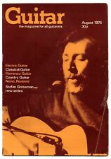 GUITAR MAGAZINE Vol 4 No 1 August 1975 features Stefan Grossman Davey Graham