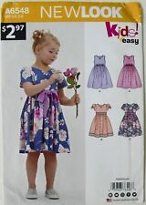 New Look Kids 6548 Girls Dresses Sewing Pattern Sz 3-8