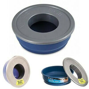Petmate No Spill Pet Food/ Water Bowl - 6 Cup, Travel Pet Dog Feeder, Age-old