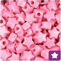 *3 FOR 2* 50 Baby Pink Opaque Star Shape 13mm Highest Quality Beads