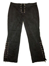 Lip Service Womens Lace Up Black Jeans Flare Split Leg USA Made 30-42-HT Size 13