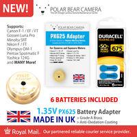 1.35V MR-9 PX625 MRB625 Adapter + Battery For Film Camera/Light Meter MADE IN UK