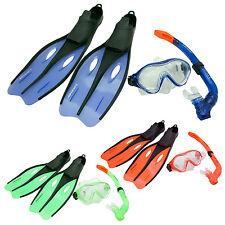 Profi Schnorchel Set DUNLOP Kinder Erw. Schwimmflossen Taucherbrille Tauchmaske
