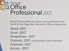 MS OFFICE 2007 Professional dauerhafte Volllizenz MLK 32/64bit priv/gewerblich