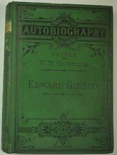 1877 EDWARD GIBBON Autobiography DECLINE & FALL of ROMAN EMPIRE Author MEMOIRS