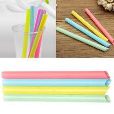 Mix Color Large Drinking Straws For Bubble Tea Smoothie Milkshake Party 100Pcs