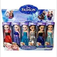6pcs elsa=anna Frozen Princess Figures Kids Children Baby Girl Playset Doll Toy=