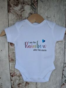 Rainbow Baby Baby Grow, rainbow after the storm, baby grow, unisex baby clothing