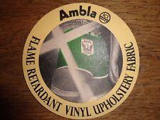 Beer mats coaster drip AMBLA VINYL UPHOLSTERY FABRIC ICI beer mat
