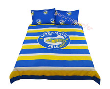 PARRAMATTA Eels NRL Quilt Doona Cover Pillow Case Set - on Sales Double