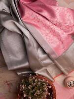 Kanchipuram Elegance Designer Silk Saree Blouse Jacquard Work Sari Women Ethnic