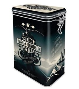 HARLEY DAVIDSON Things Are Different 3D CLIP TOP STORAGE TIN Cookie Jar