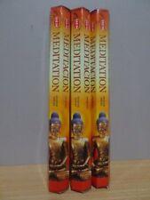 Meditation Incense  3 Packs x 20 Sticks   HEM Hex   Free Post AU