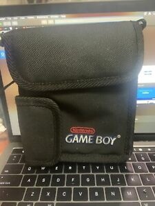 Vintage Official Nintendo Game Boy Color Black Carrying Case Pouch Travel Bag