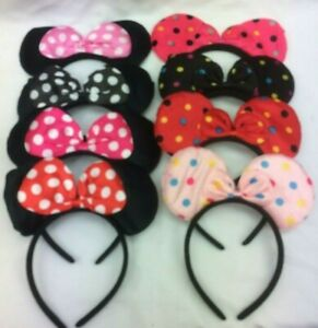 MINNI MOUSE HAIR BAND EARS BAND KIDS GIRLS HALLOWEEN,BIRTHDAY PARTY