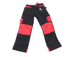 NOS Vintage 90s Streetwear Mens 34x32 Multipocket Reinforced Cargo Jeans Pants