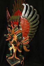 Balinese Garuda Eagle statue Hand Carved Wood sculpture Bali Art Indonesia