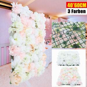 Künstliche Blumen DIY Kunstblumen Blumenwand Fest Hochzeitsfotografie 40*60cm