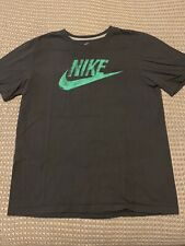 NIKE Regular Fit Gray Swoosh T-Shirt - XL