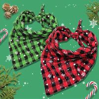Christmas Dog Bandanas Snowflake Cat Dog Collar Neck Scarf Neckerchief Accessory