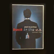 Back In US, Paul McCartney DVD 2002 Yesterday, Hey Jude, My Love, Amazed BEATLES
