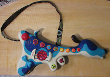 Just B-Byou Blue Dog-Shaped Child's Toy Guitar wStrap WORKS Accoustic &Electric